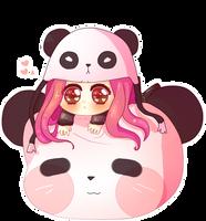 Sweet panda by Hoshiime