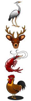 Animal Illustrations 2 by Pinwizkid
