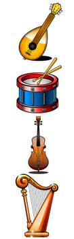 Music Illustrations by Pinwizkid