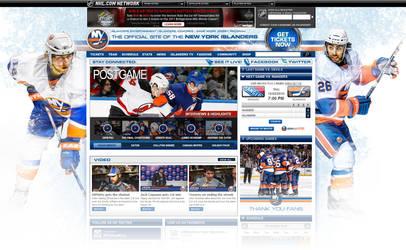 New York Islanders Site Design by Pinwizkid
