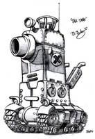 Metal Slug Tall Tank by Pinwizkid
