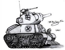 Metal Slug Rebel Army Tank 1 by Pinwizkid