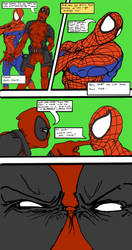 Deadpool and spidey strip by Lycanthro54