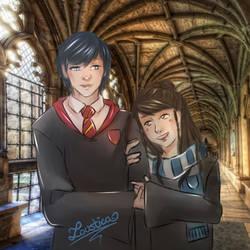 HP x FEA - Chrobin Hogwarts [Sketch] by Loustica