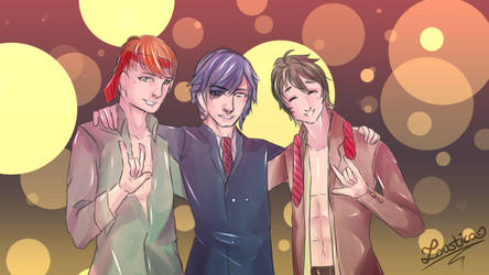FEA - Dorks in smoking for New Year by Loustica