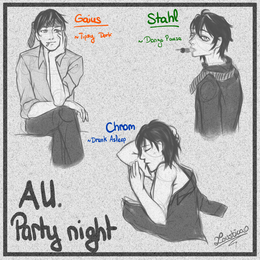 FEA - Dorks AU sketches [Year New Party] by Loustica