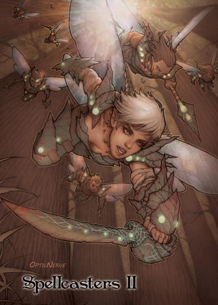 Spellcasters 2 - Warrior Fairies by theopticnerve