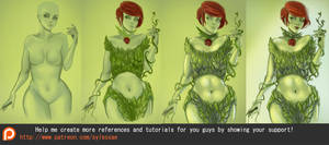 Poison Ivy Tutorial Process by sylessae
