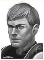 Aedyn Sketch [Ko-fi Commission] by sylessae