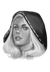 Ofseaandstormda Sketch Portrait [Ko-Fi Commission] by sylessae