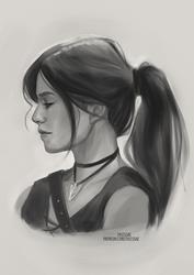 Jaina OC Sketch [Ko-Fi Commission] by sylessae