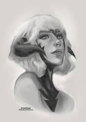 Arslan OC Sketch [Ko-Fi Commission #71] by sylessae