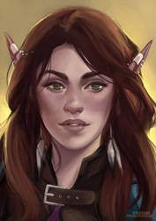 Naia OC Portrait [Trade] by sylessae