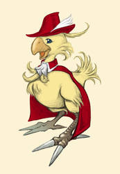 #30DaysFFChallenge Day 08 - Red Mage Chocobo by Charmyto