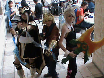 League of legends Cosplay Ez, Ashe ,Bunny Riven by monky720