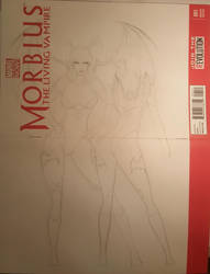 Morbius Fan Art Cover Morrigan  Lilith incomplete by junhb74