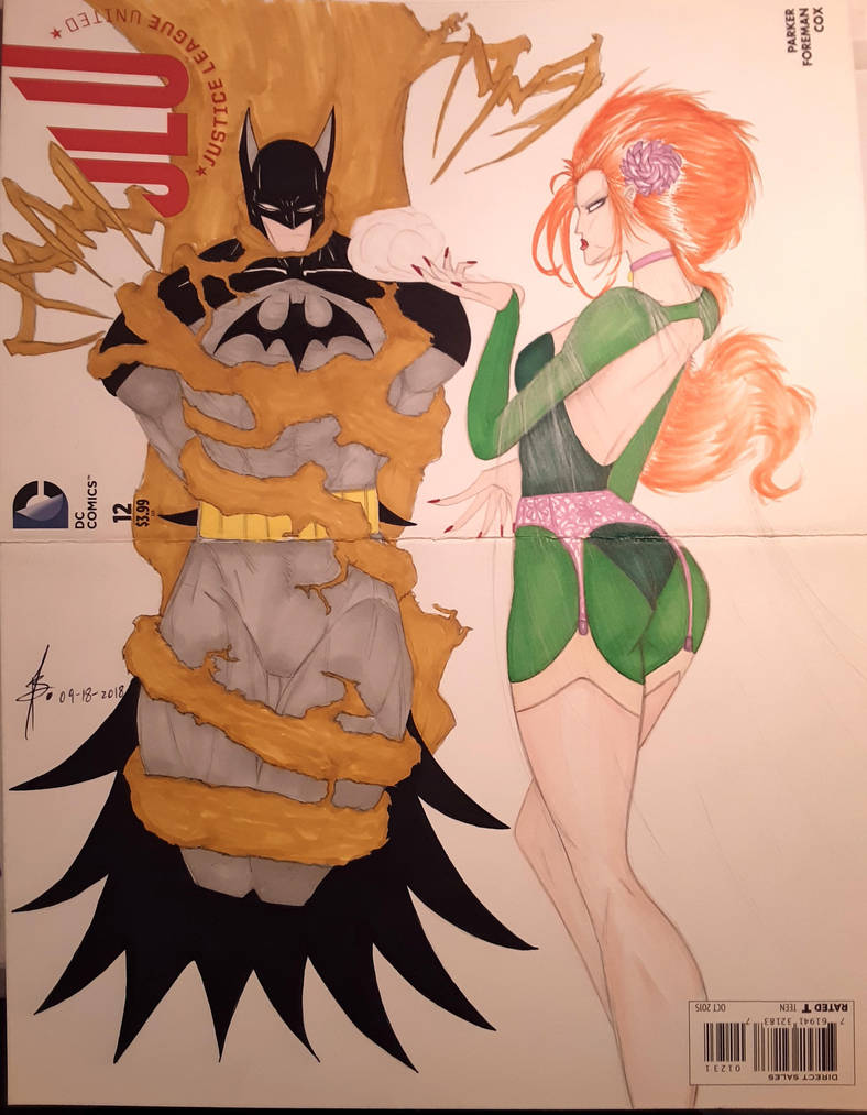 JLU Batman Poison Ivy Fan Art Cover by junhb74