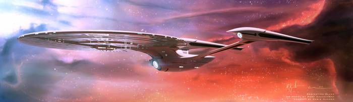 Enterprise-F concept: Dedication Class by MarkKingsnorth