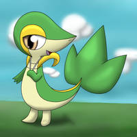 Snivy!~ With a different style! by DreamyNormy