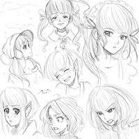 Sketching practice by PersonalAmi