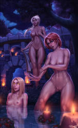 Lunarfall bathing by PersonalAmi