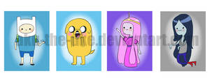 Adventure Time Chibis by Aku-the-Uke