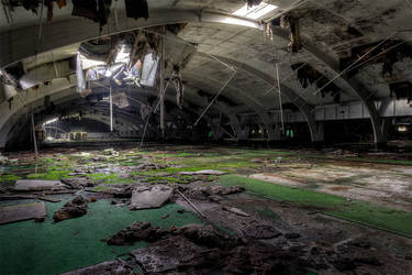 Tennishalle by FotoRuina