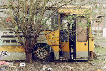 Old School Bus by FotoRuina