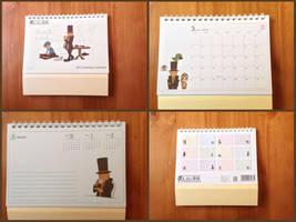 Professor Layton 2012 Desktop Calendar by BenjaminHunter