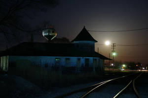 Station at night by MarcelloRupelli