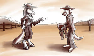 Old West Standoff by MarcelloRupelli