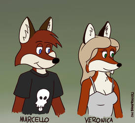 Marcello and Veronica, cartoony by MarcelloRupelli