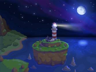 Light House Night Version by Art-Mutt
