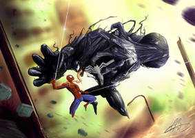 SPIDERMAN vs VENOM by wafspr