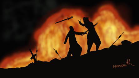 Kattappa kills Baahubali by hvaddi9