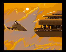 Star Wars - Bespin Cloud City and Cloud Car by sunteam