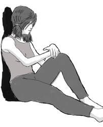 Girl Sitting Sketch by sunteam