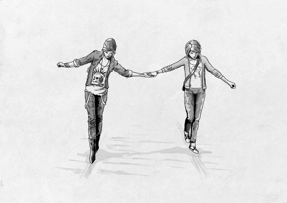 Chloe and Max on the Tracks - Life is Strange by sunteam