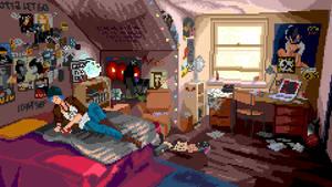 Chloe's room (pixelart) from Life is Strange by sunteam