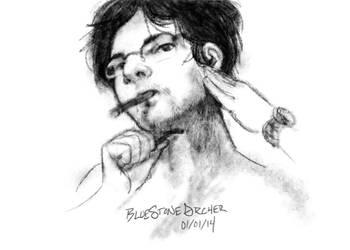 Day1: Self Portrait by BlueStoneArcher
