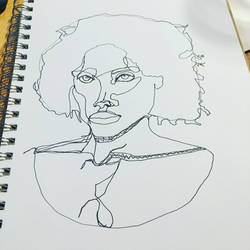 Single line art of a woman by doc21g