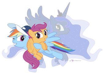 Sisters in Ponyville by dm29