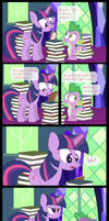Comic Block: Spike's Not Here Right Now by dm29