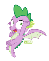Spike Takes Flight by dm29