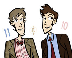 Doctors 11 and 10 by jstaricka