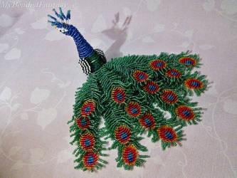 Beaded Peacock by MyBeadedFantasy