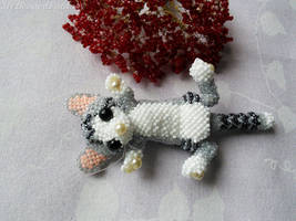 Beaded Cat by MyBeadedFantasy