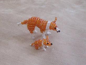 Beaded Collie Dogs by MyBeadedFantasy