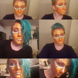 gold fish makeup test by poisonustreefrog