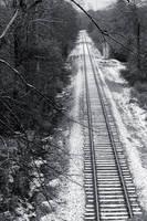 Snowy Railroad Tracks by EilonwySedai